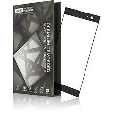 Tempered Glass Protector Sony Xperia XA2 készülékhez, keretes fekete - Képernyővédő