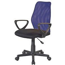 TEMPO KONDELA BST 2010, fekete-kék - Irodai szék
