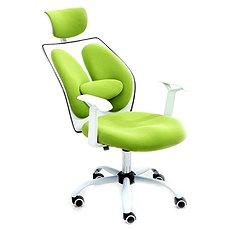 TEMPO KONDELA Benno UT-C568X zöld/fehér - Irodai szék