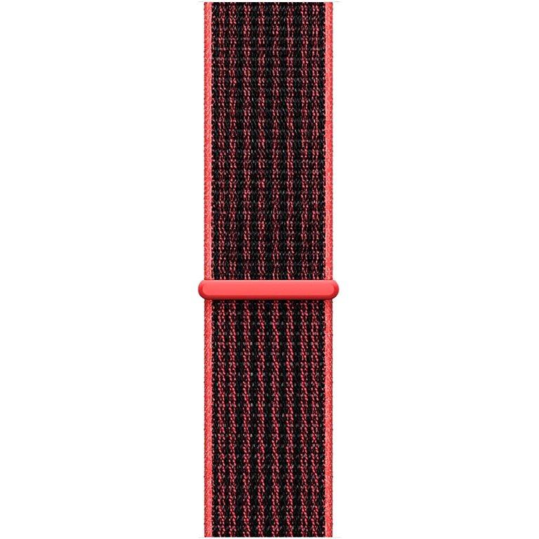 Apple Sport Nike 42 mm világos ragyogó bíbor/fekete, tépőzáras - Szíj
