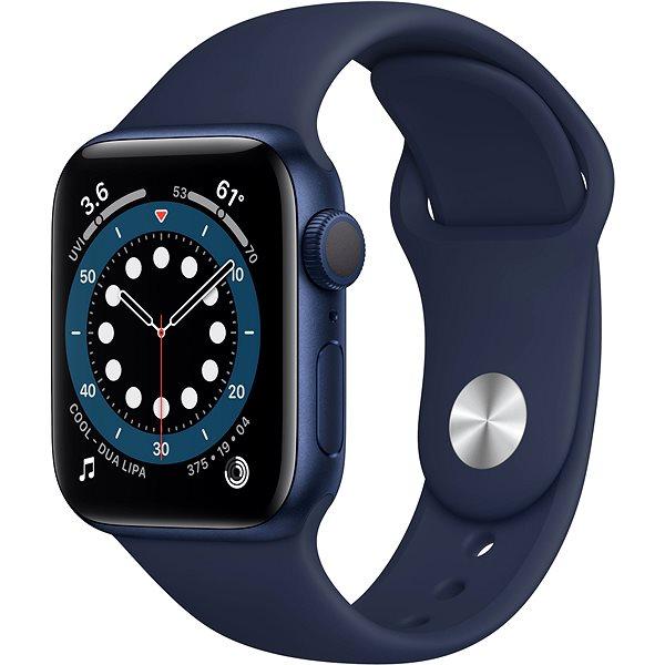 Apple Watch Series 6 44 mm kék alumínium, sötétkék sport szíjjal - Okosóra