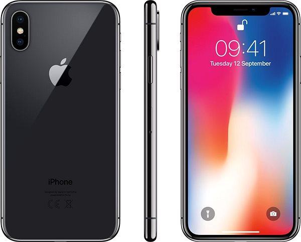 iPhone X 256GB, asztroszürke - Mobiltelefon