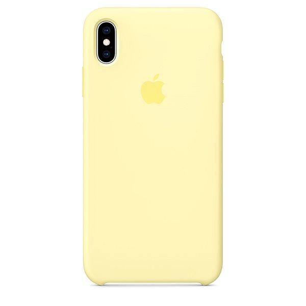 iPhone XS Max szilikontok, lágy sárga - Mobiltelefon hátlap