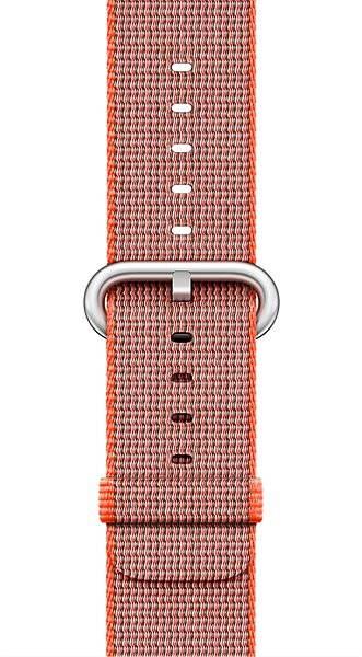 Apple 42mm tér-narancssárga / antracit szürke a DEMO szőtt nejlonból - Szíj