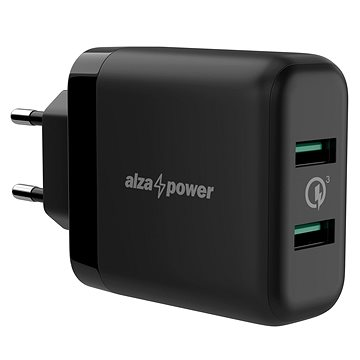 AlzaPower Q200 Quick Charge 3.0 fekete - Hálózati adapter