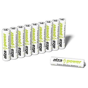 AlzaPower Super Alkaline LR03 (AAA), 10 db öko csomagolásban - Eldobható elem