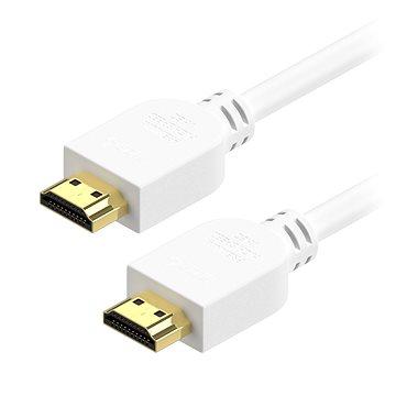 AlzaPower Premium HDMI 2.0 High Speed 4K 2m fehér - Videokábel