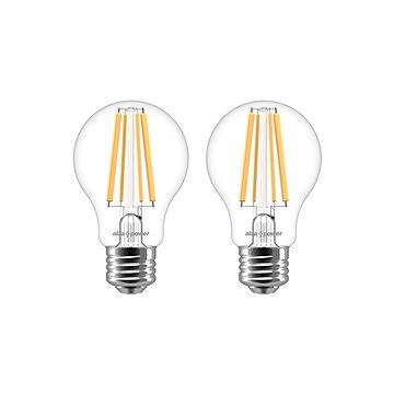 AlzaPower LED Classic Ambience 8 W (75 W), 2700 K, E27, 2 db-os készlet - LED izzó