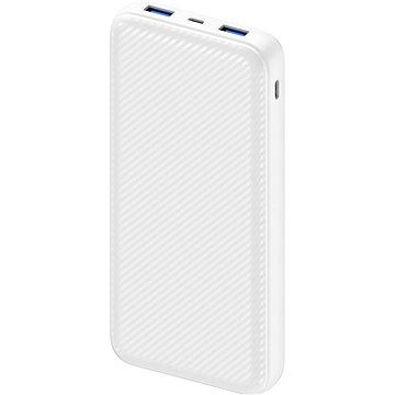 AlzaPower Carbon 20000mAh Fast Charge + PD3.0 White - Powerbank