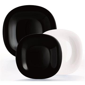 Luminarc CARINE étkészlet, 18 db, fehér/fekete - Étkészlet