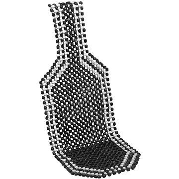 COMPASS üléshuzat fekete fa golyókkal 127x38cm - Autós üléshuzat