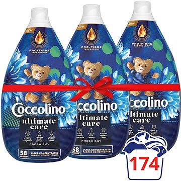 COCCOLINO Intense Fresh Sky 3× 960 ml (174 mosás) - Öblítő