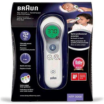 BRAUN NTF 3000 - Gyerek lázmérő