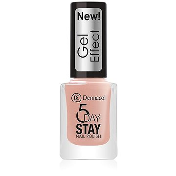 DERMACOL 5 Days Stay Gel Effect Nail Polish No.27 Parisien Chic (12 ml) - Körömlakk