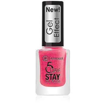 DERMACOL 5 Days Stay Gel Effect Nail Polish No.29 Burlesque (12 ml) - Körömlakk