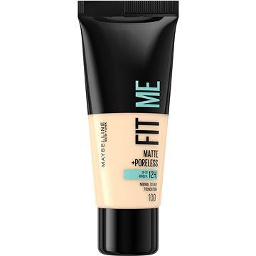 MAYBELLINE NEW YORK Fit Me! Matte & Poreless Foundation 100 Warm Ivory 30 ml - Alapozó