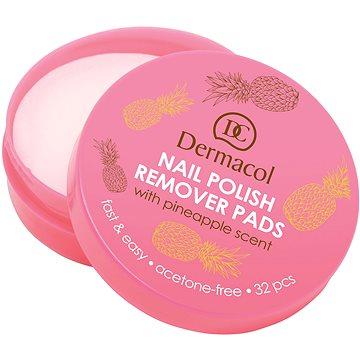 DERMACOL Nail Polish Remover Pads 32 db - Körömlakklemosó