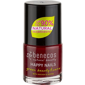 BENECOS Happy Nails Green Beauty & Care Cherry Red 5 ml - Körömlakk