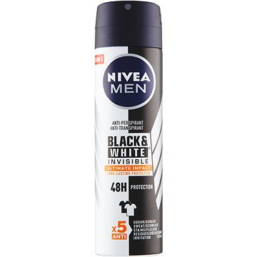 NIVEA MEN Black&White Invisible Ultimate Impact 150 ml - Férfi izzadásgátló