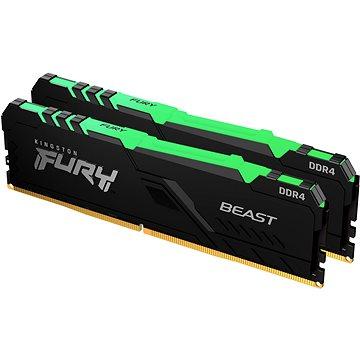 Kingston FURY 32GB KIT DDR4 3200MHz CL16 Beast RGB - RAM memória