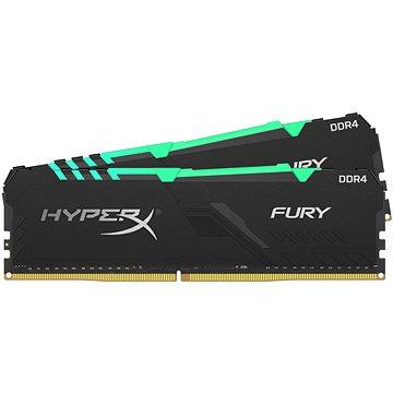 HyperX 32GB KIT DDR4 3600MHz CL18 FURY RGB Series - Rendszermemória