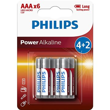 Philips LR03P6BP 6 db elem - Eldobható elem