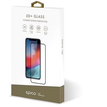 Epico Glass 3D + Samsung A8 (2018) - fekete - Üvegfólia