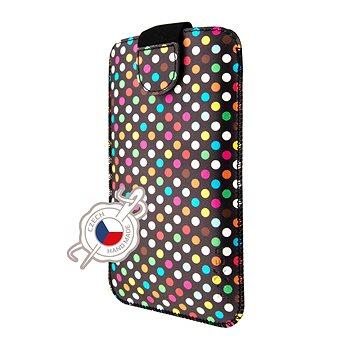 FIXED Soft Slim zárható 5XL Rainbow Dots motívummal - Mobiltelefon tok