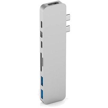 HyperDrive PRO USB-C Hub pro MacBook Pro - ezüst - Port replikátor
