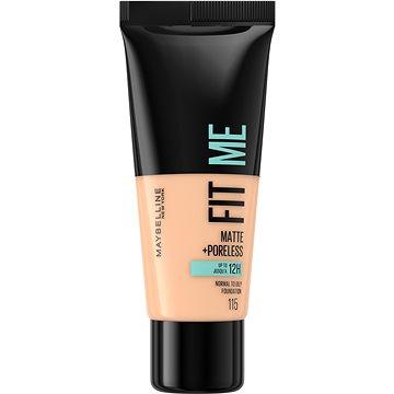 MAYBELLINE NEW YORK Fit Me Matte & Poreless Make Up 115 Ivory 30 ml - Alapozó
