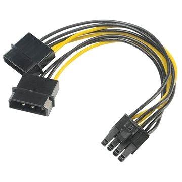 AKASA adapter - 4-tűs Molex-ről 8-tűs PCIe-re - Átalakító
