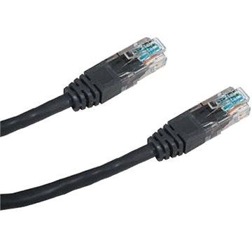 CAT5E UTP adatátviteli hálózati patch kábel, 0,5 méter, fekete - Hálózati kábel