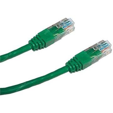 Adatkommunikációs CAT5E, UTP, 0,5 m, zöld - Hálózati kábel