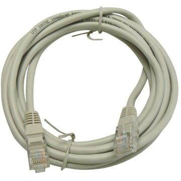 Adatátviteli kábel, CAT6, UTP, 3m, szürke - Hálózati kábel