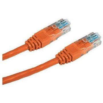 Datacom CAT5E UTP narancssárga 0.25m - Hálózati kábel