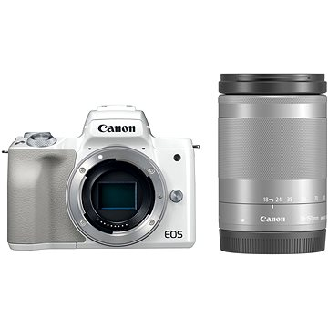 Canon EOS M50 fehér + EF-M 18-150 mm IS STM - Digitális fényképezőgép