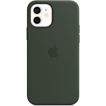 Apple iPhone 12 és 12 Pro szilikon hátlap MagSafe Ciprusi Zöld - Telefon hátlap