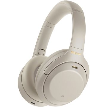 Sony Hi-Res WH-1000XM4, ezüst-szürke, 2020-as modell - Vezeték nélküli fül-/fejhallgató