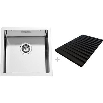 SINKS BOXSTEP 450 RO 1,0mm + VERSUS - Rozsdamentes acél mosogató