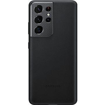 Samsung bőr hátlap Galaxy S21 Ultra készülékre fekete - Mobiltelefon hátlap