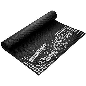 Lifefit Slimfit gimnasztikai szőnyeg, fekete - Fitnesz szőnyeg