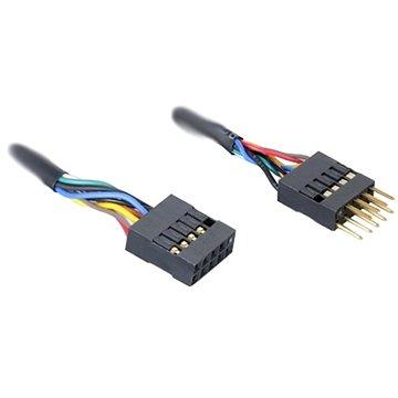 AKASA belső hosszabbító USB 2.0 Male -> Nő, hossza 40 cm - Adatkábel