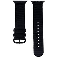 Eternico 42mm / 44mm Nylon Band fekete Apple Watch-hoz - Szíj