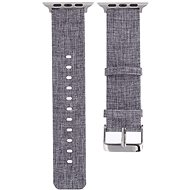 Eternico 38mm / 40mm Canvas Band szürke Apple Watch-hoz - Szíj
