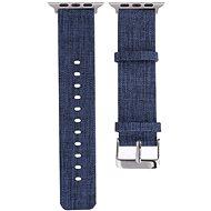 Eternico Apple Watch 42mm / 44mm Canvas Band, kék - Szíj