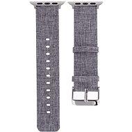 Eternico Apple Watch 42mm / 44mm Canvas Band, szürke - Szíj