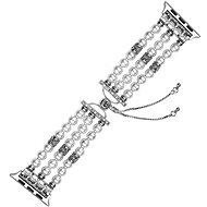 Eternico 42mm / 44mm Pearl Bracelet fehér Apple Watch-hoz - Szíj