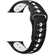 Eternico Apple Watch 38mm / 40mm Silicone Polkadot Band, fekete-fehér - Szíj