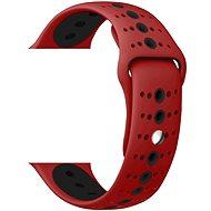 Eternico Apple Watch 42mm / 44mm Silicone Polkadot Band, piros-fekete - Szíj
