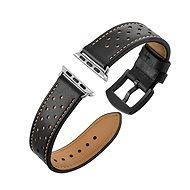 Eternico Apple Watch 38mm / 40mm Leather Band, fekete - Szíj